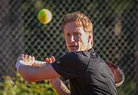 Hilversum, The Netherlands,  August 18, 2020,  Tulip Tennis Center, NKS, National Senior Championships, Men's  Single 40+,  Hendrik Jan Davids  (NED)<br /> Photo: www.tennisimages.com/Henk Koster