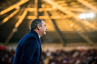 Manager of Swansea City, Paul Clement reacts during the Premier League match between Swansea City and Bournemouth at The Liberty Stadium, Swansea, Wales, UK. Saturday 25 November 2017