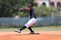 Albert Hernandez (63) of Monsignor Edward Pace High School in Davie, Florida during the Under Armour Baseball Factory National Showcase, Florida, presented by Baseball Factory on June 13, 2018 the Joe DiMaggio Sports Complex in Clearwater, Florida.  (Nathan Ray/Four Seam Images)