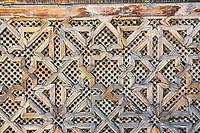 Fes, Morocco.  Medersa Bou Inania, Woodwork.