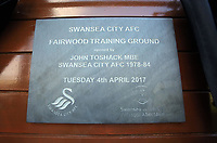 Pictured: The plaque unveiled Tuesday 04 April 2017<br />