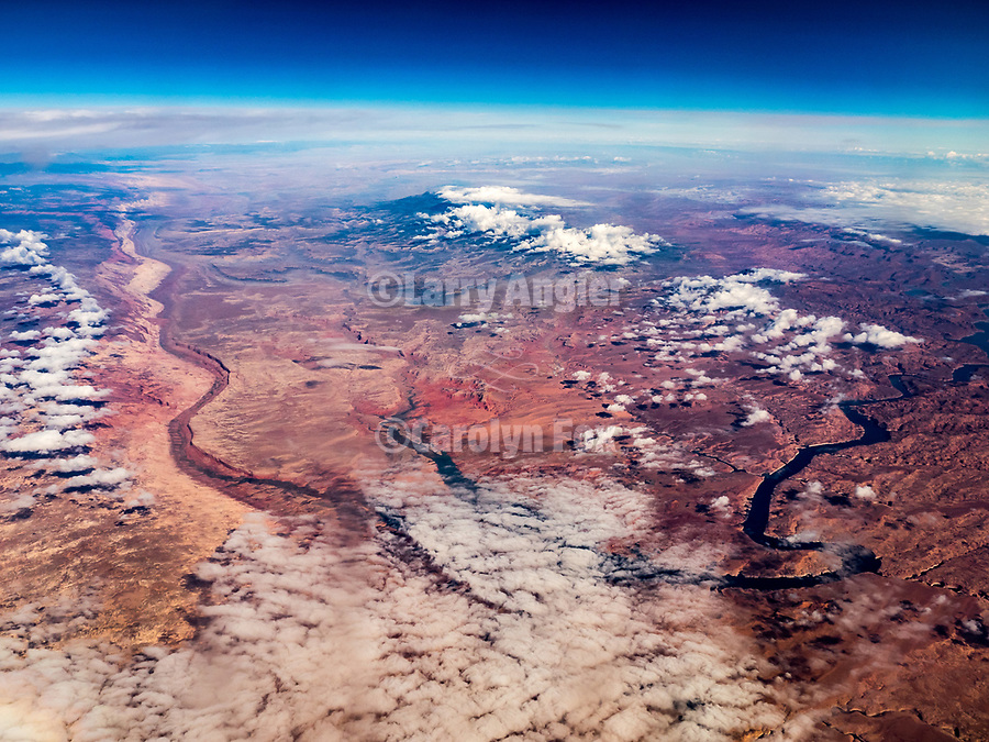 Henry Mountains, Lake Powell, Colorado Plateau, Utah, America's flyover country: SMF-LAX-MDW