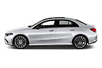 Car Driver side profile view of a 2019 Mercedes Benz A-Class - 4 Door Sedan Side View