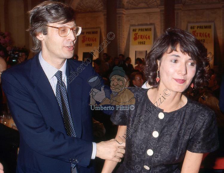 VITTORIO ED ELISABETTA SGARBI <br /> PREMIO STREGA A VILLA GIULIA ROMA 1992