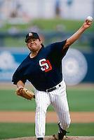 Fernando Valenzuela of the San Diego Padres at Peoria Sports Complex in Phoenix, Arizona 1996 Spring Training. (Larry Goren/Four Seam Images)