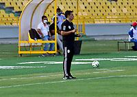 BARRANQUILLA - COLOMBIA, 01-02-2021: Real Cartagena and Barranquilla F. C., durante partido de la fecha 3 por el Torneo BetPlay DIMAYOR 2021 en el estadio Jaime Moron de la ciudad de Cartagena. / Real Cartagena v Barranquilla F. C., during a match of the 3rd for the BetPlay DIMAYOR 2021 Tournament at the Jaime Moron stadium in Cartagena city. Photo: VizzorImage. / Javier Garcia / Cont.