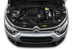 Car Stock 2020 Citroen C3 Shine 5 Door Hatchback Engine  high angle detail view