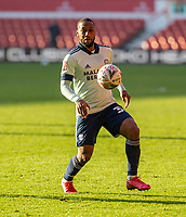 9th January 2021; City Ground, Nottinghamshire, Midlands, England; English FA Cup Football, Nottingham Forest versus Cardiff City; Junior Hoilett of Cardiff City controls the high ball