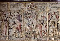Europe/France/Auvergne/43/Haute-Loire/Parc Naturel Régional du Livradois-Forez/La Chaise Dieu: Tapisserie des Flandres - Massacre des innocents