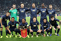 Football Soccer: UEFA Champions League -Group Stage-  Group H - Juventus vs Manchester United, Allianz Stadium. Turin, Italy, November 07, 2018. <br /> Manchester United players pose for the pre match photograph prior to the Uefa Champions League football soccer match between Juventus and Manchester United at Allianz Stadium in Turin, November 07, 2018.<br /> UPDATE IMAGES PRESS