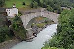 Old bridge near the town of Tasch, near Zermatt, Switzerland.