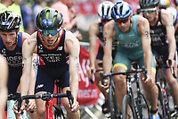 6th June 2021; Leeds, Yorkshire, England;  Alex Yee in action during the AJ Bell 2021 World Triathlon Series Event in Roundhay Park, Leeds.