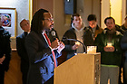 January 19, 2020; MLK Candlelight Prayer Service.  (Photo by Barbara Johnston/University of Note Dame)