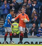 05.05.2019 Rangers v Hibs: Ross McCrorie in goals