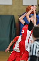 Colin Braga basketball action in the CYO finals in Dublin, CA Sunday Feb. 3, 2019.(Photo by Alan Greth)