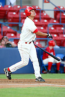 July 20th 2008:  Jason Ogata of the Spokane Indians, Rookie Class-A affiliate of the Texas Rangers, during a game at Home of the Avista Stadium in Spokane, WA.  Photo by:  Matthew Sauk/Four Seam Images