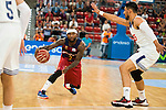 Real Madrid's player Gustavo Ayon and FC Barcelona Lassa's player Tyrese Rice during the match of the semifinals of Supercopa of La Liga Endesa Madrid. September 23, Spain. 2016. (ALTERPHOTOS/BorjaB.Hojas)