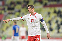 11.10.2020 GDANSK PILKA NOZNA - LIGA NARODOW UEFA MECZ GRUPY A POLSKA - WLOCHY Football - UEFA Nations League group A match Poland - Italy N/Z ROBERT LEWANDOWSKI SYLWETKA FOT MATEUSZ SLODKOWSKI / FOTONEWS / NEWSPIX.PL --- Newspix.pl PUBLICATIONxNOTxINxPOL 20201011FNMS198 <br /> Danzica Nations League Gruppo A Polonia Italia Football - UEFA Nations League group A match Poland - Italy <br /> ITALY ONLY