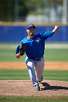 Toronto Blue Jays Danny Young (25) during a minor league Spring Training game against the New York Yankees on March 22, 2016 at Englebert Complex in Dunedin, Florida.  (Mike Janes/Four Seam Images)