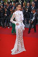 Sara Sampaio sur le tapis rouge pour la projection du film MISE A MORT DU CERF SACRE lors du soixante-dixième (70ème) Festival du Film à Cannes, Palais des Festivals et des Congres, Cannes, Sud de la France, lundi 22 mai 2017. Philippe FARJON / VISUAL Press Agency