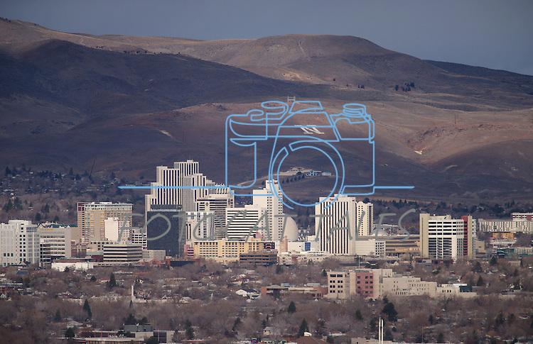 Reno, Nev., skyline, seen Friday, Dec. 19, 2014.<br /> Photo by Cathleen Allison