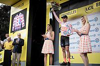 Polka Dot Jersey / KOM leader Greg Van Avermaet (BEL/CCC) celebrated on the podium<br /> <br /> Stage 1: Brussels to Brussels(BEL/192km) 106th Tour de France 2019 (2.UWT)<br /> <br /> ©kramon
