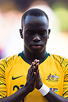 Awer Mabil of Australia is seen prior to the AFC Asian Cup UAE 2019 Group B match between Australia (AUS) and Jordan (JOR) at Hazza Bin Zayed Stadium on 06 January 2019 in Al Ain, United Arab Emirates. Photo by Marcio Rodrigo Machado / Power Sport Images