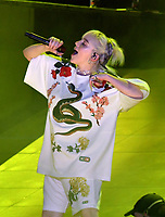 NEW YORK, NY- SEPTEMBER 25: Billie Eilish at the 2021 Global Citizen Live Festival at the Great Lawn in Central Park, New York City on September 25, 2021. Credit: John Palmer/MediaPunch