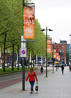 The Netherlands, Den Bosch, 16.04.2014. Fed Cup Netherlands-Japan, Flags in the City<br /> Photo:Tennisimages/Henk Koster