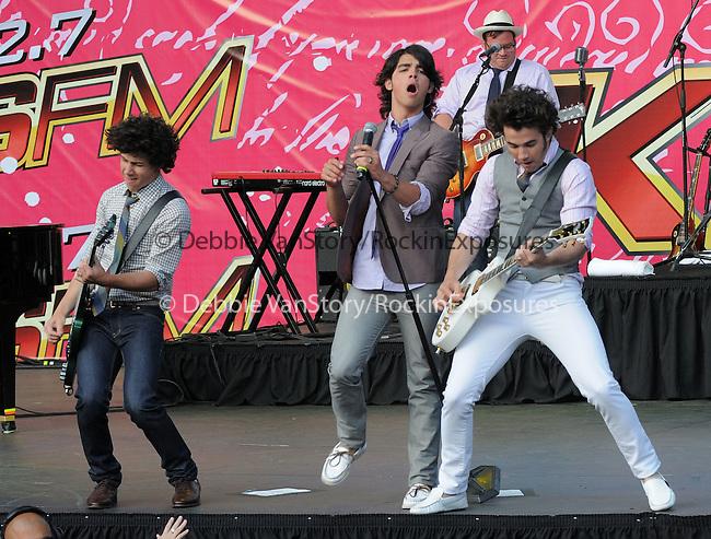 The Jonas Brothers live at The KIIS Fm Wango Tango 2008 held at The Verizon Wireless Ampitheatre in Irvine, California on May 10,2008                                                                                      Copyright 2008 Debbie VanStory / iPhoto