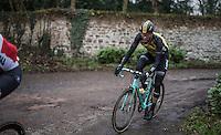 Maarten Wynants (BEL/LottoNL-Jumbo) on the Chemin de Wihéries cobble section (Honelles)<br /> <br /> GP Le Samyn 2017 (1.1)