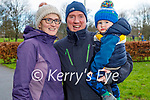 Enjoying a stroll in the Listowel town park on Sunday, l to r:  Michelle, Dan and Jack Leahy