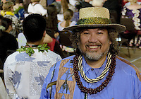 A man enjoys the Merrie Monarch Festival 2008