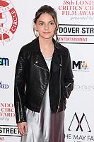 Dafne Keen<br /> arriving for the Critic's Circle Film Awards 2018, Mayfair Hotel, London<br /> <br /> <br /> ©Ash Knotek  D3374  28/01/2018