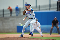 Florida Gators starting pitcher Jackson Kowar (37) in action against the Wake Forest Demon Deacons in Game Two of the Gainesville Super Regional of the 2017 College World Series at Alfred McKethan Stadium at Perry Field on June 11, 2017 in Gainesville, Florida.  (Brian Westerholt/Four Seam Images)