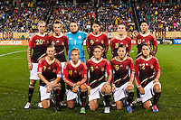 Germany (GER) starting XI. The United States (USA) and Germany (GER) played to a 2-2 tie during an international friendly at Rentschler Field in East Hartford, CT, on October 23, 2012.