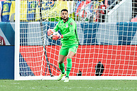 DENVER, CO - JUNE 6: Zack Steffen #1 of the United States makes the save during a game between Mexico and USMNT at Mile High on June 6, 2021 in Denver, Colorado.