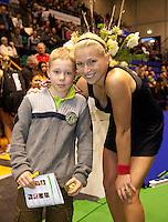 18-12-10, Tennis, Rotterdam, Reaal Tennis Masters 2010, Micha Krajicek met de vanger van de gouden bal