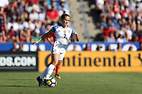 Cary, NC - Sunday October 22, 2017: Abby Dahlkemper during an International friendly match between the Women's National teams of the United States (USA) and South Korea (KOR) at Sahlen's Stadium at WakeMed Soccer Park. The U.S. won the game 6-0.