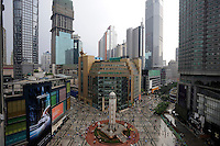 Jiefangbei Commercial Street in Chongqing, China..Jiefangbei Centre shopping mall is the largest commercial walking street in western China, combining shopping, leisure, tourism, commerce, catering and entertainment as a whole. The commercial outlets are dense, and large shopping malls are rare in other areas of the same scale..22 Apr 2011