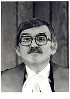 Le Juge Jules Deschenes, 10 Mai  1980<br /> <br /> PHOTO : Agence Quebec Presse