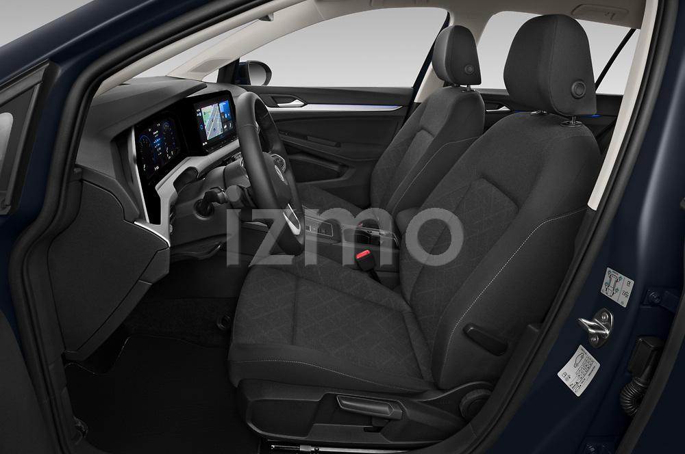 Front seat view of 2021 Volkswagen Golf-Variant Life-HEV 5 Door Wagon Front Seat  car photos