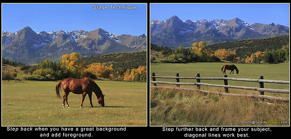 Stage Technique: Step FURTHER Back.<br />