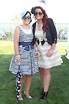Lorraine McKenna and Linda Newman at the Bellewstown Races...Picture Jenny Matthews/Newsfile.ie