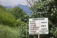 Europe/France/Provence-Alpes-Côtes d'Azur/06/Alpes-Maritimes/Alpes-Maritimes/Arrière Pays Niçois/La Brigue: Panneau attestant que la gestion de la ressource en eau  existait depuis longtemps dans la région