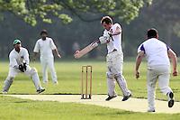 Mad Moroccas CC (batting) vs New Boys CC - Victoria Park Community Cricket League at Victoria Park, London - 21/05/12 - MANDATORY CREDIT: Gavin Ellis/TGSPHOTO - Self billing applies where appropriate - 0845 094 6026 - contact@tgsphoto.co.uk - NO UNPAID USE.