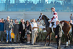 NEW ORLEANS, LA - FEBRUARY 25: Farrell #2, ridden by Channing Hill, wins the Rachel Alexandra S. on Risen Star Stakes Day at Fair Grounds Race Course on February 25, 2017 in New Orleans, Louisiana. (Photo by Jarrod Monaret/Eclipse Sportswire/Getty Images)