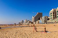 Israel,Tel Aviv, Sea shore promenade , beach