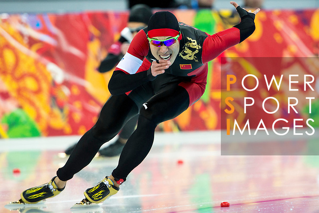 Zhongsheng Mu of China compete during the Short Track Speed Skating as part of the 2014 Sochi Olympic Winter Games at Iceberg Skating Palace on February 10, 2014 in Sochi, Russia. Photo by Victor Fraile / Power Sport Images