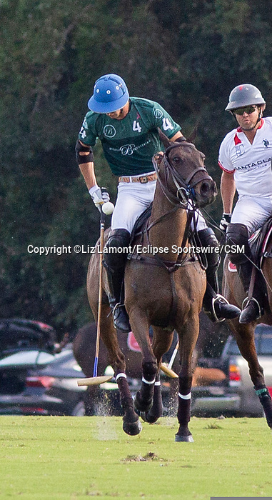 January 10, 2021:  In their debut, Santa Clara Polo Club defeats Beverly Polo Club 11-10 in Overtime, at the International Polo Club, Palm Beach, on January 10, 2021, in Wellington, Florida. Beverly Polo's Tolito Ocampo was Most Valuable Player.  Matias Magrinni's Don Ercole Elite was Best Playing Pony. (Photo by Liz Lamont/Eclipse Sportswire/CSM